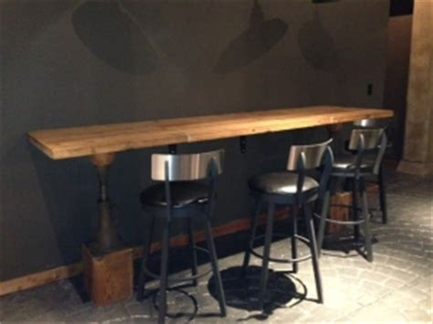 Wall Mounted Bar Table Industrial Style Tables With Reclaimed Wood Antique Woodworks