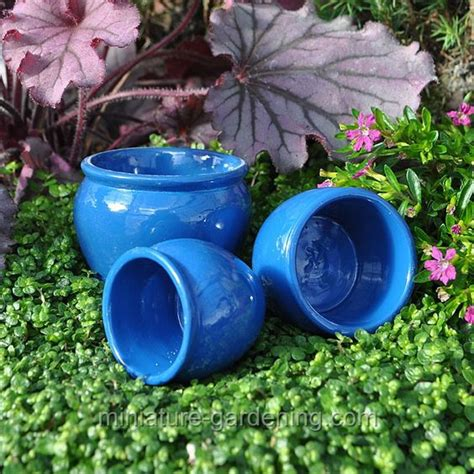 Miniature Garden Planters by Deck Planters In A Set Of 3 For The Miniature Garden