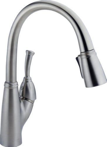 amazon delta kitchen faucets delta allora single handle kitchen faucet