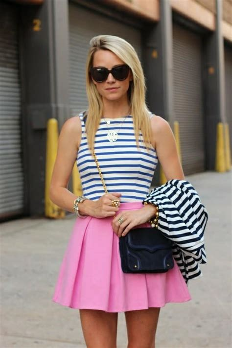Mineola Stripe Sabrina Top Blue hair pink and blue hairstyles how to