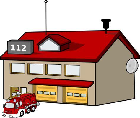 cartoon fire station clip art  clkercom vector clip art  royalty  public domain