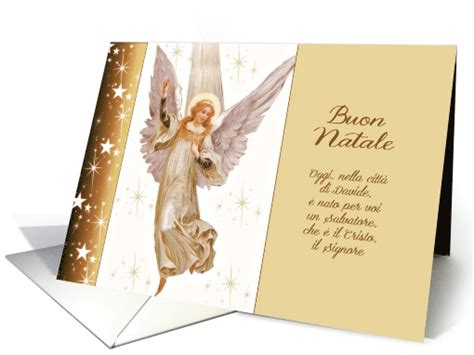 buon natale merry christmas  italian luke  vintage angel card