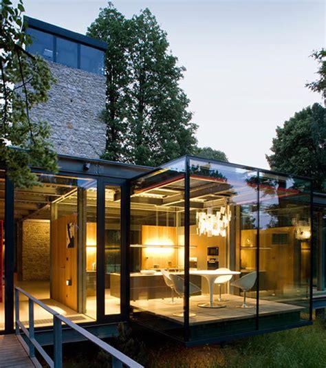casa de cristal moderna casa de cristal