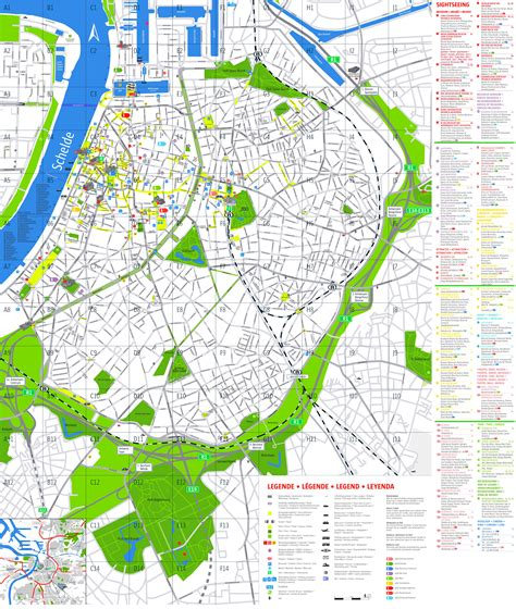tourist attractions map antwerp tourist attractions map