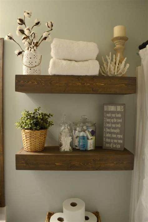 bathroom wood shelves 25 great ideas about wood floating shelves on