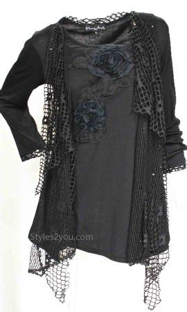 Dc Blouse Rains plus size layered vintage blouse in