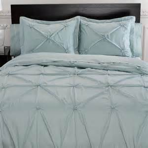 Duvet Cover Memento Puckered Aqua Mist Duvet Cover Bedding