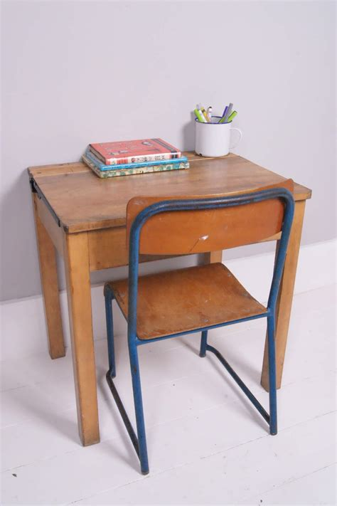 children s vintage school desk with chalkboard lid and
