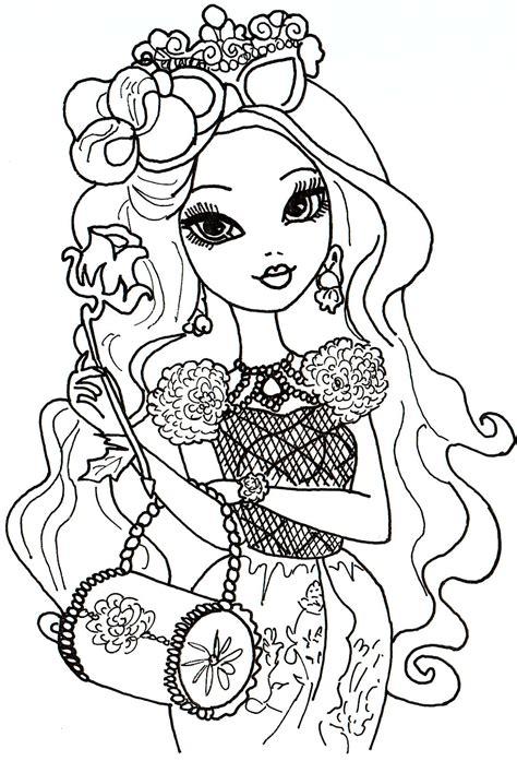 dibujos para pintar de briar beauty