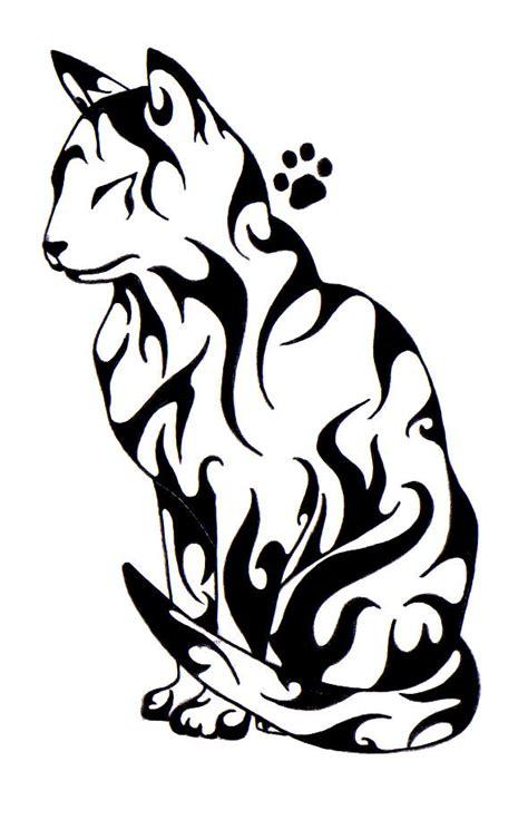 tribal pattern handstitched motiv tetov 225 n 237 kočky šelmy 1433