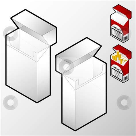 cigarette box template 5 best images of printable cigarette pack template lucky