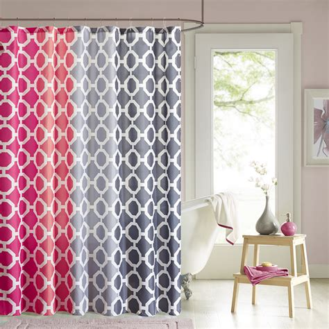 90 shower curtain 90 176 by design lab dani printed shower curtain and hook set