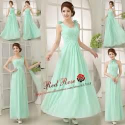 aliexpress com buy mint green bridesmaid dresses long
