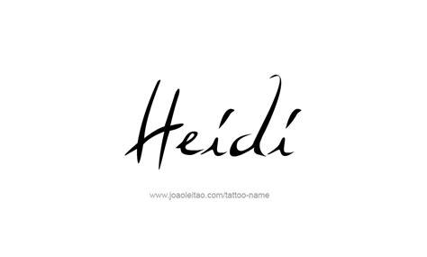 heidi name tattoo designs