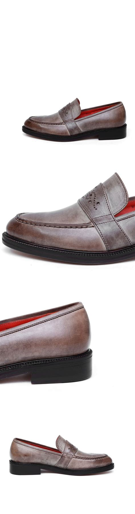 personalised loafers shoes gradation fade finish custom loafer shoes 332