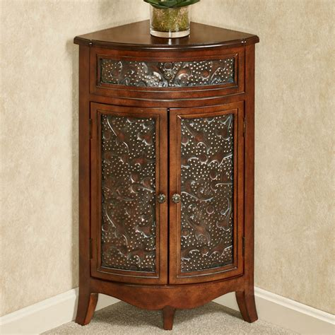corner console table with storage lombardy corner storage accent cabinet