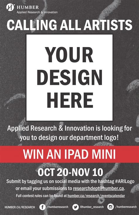 design research contest applied research innovation logo design contest humber