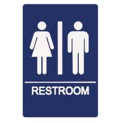 visual literacy in the 21st century restroom sign