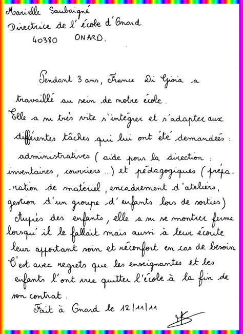 Lettre De Recommandation Assistant Maternelle Lettre De Recommandation