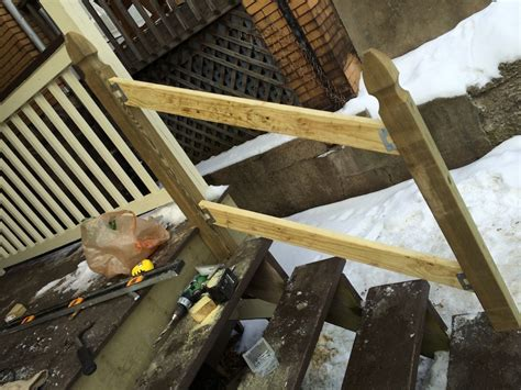 how to build a banister for stairs how to build a handrail for your porch safer stairs in 3