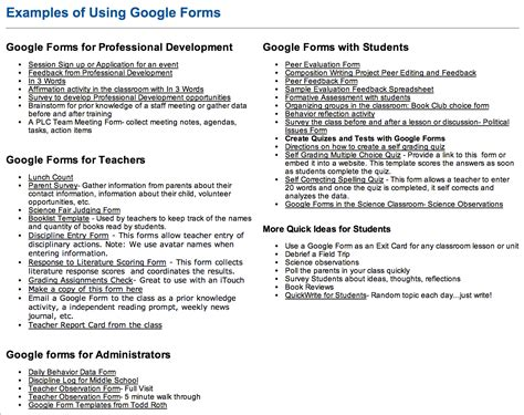 google forms tutorial for teachers tons of google forms for teachers administrators and