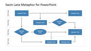 swimlane flowchart template powerpoint 0814 business