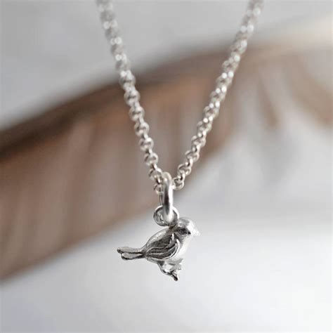 sterling silver bird necklace by martha jackson