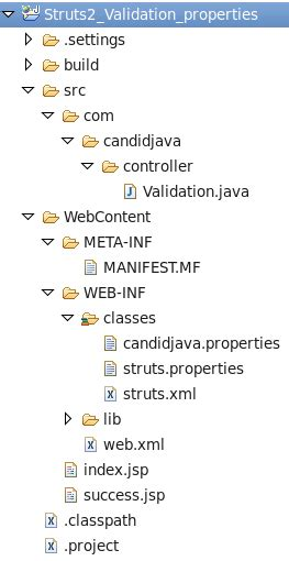 pattern for validation java struts 2 validation using properties file exle and tutorial