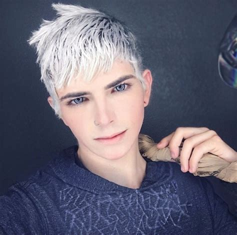 will lightly frosting my hair blend the grey silver hair frost white hair boy cosplay tumblr