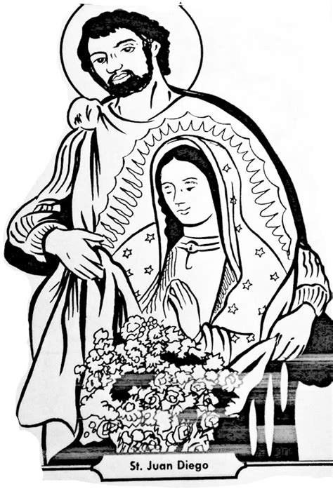 dibujos cat licos juan diego y la virgen de guadalupe dibujos cat 243 licos juan diego y la virgen de guadalupe