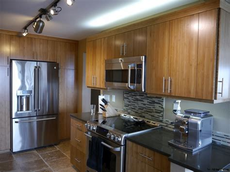 bamboo cabinets kitchen seattle modern kitchen remodel with bamboo