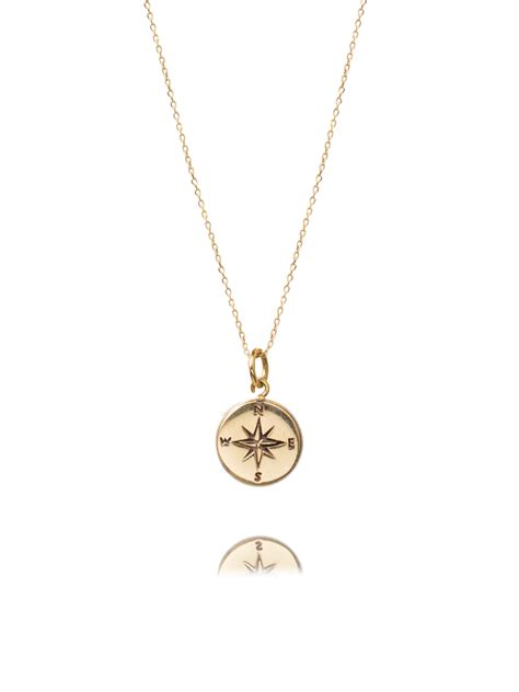 Compass Necklace gold compass necklace tilly sveaas jewellery