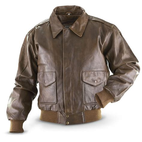 bomber jacket vintage 174 cowhide bomber jacket brown 197922 insulated jackets coats at