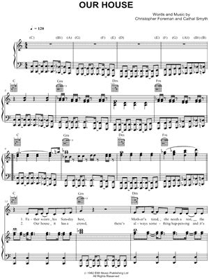 this is our house and our house music madness quot our house quot sheet music download print