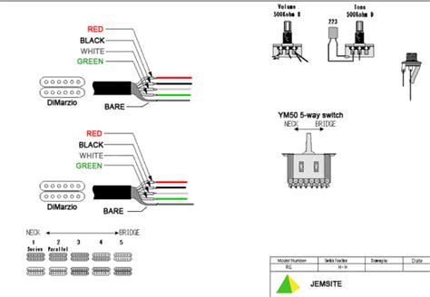 dimarzio 5 way switch wiring diagram dimarzio get free