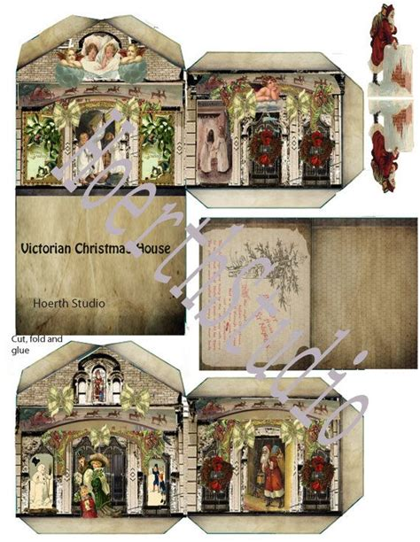 victorian paper doll house christmas victorian house paper model diyinstant download
