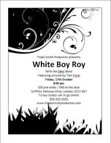 white flyer template free black and white flyer template microsoft word templates