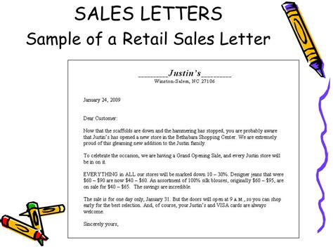 Sales Letter Exles Doc 694951 Sle Business Sales Letter Sales Promotion