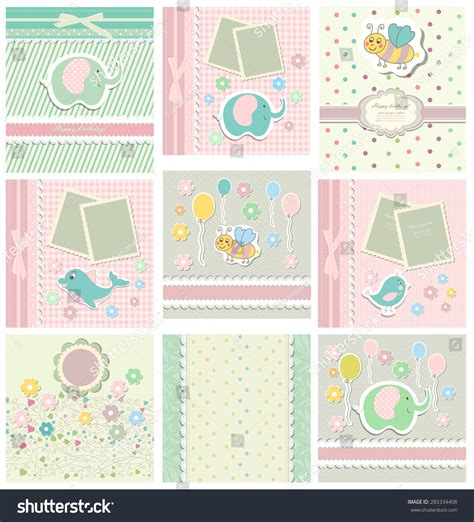 templates for baby shower in vector from stock 25 eps set template child baby shower cardvector stock vector