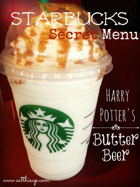 secret starbucks starbucks secret menu harry potters butterbeer recipe