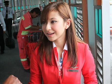 airasia pramugari join with the pretty air asia stewardesses world