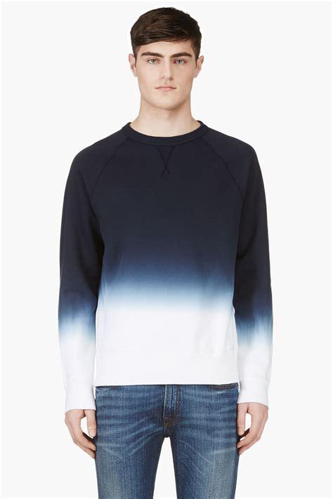 Sweater Hoodie Jumper Navy lyst acne studios navy ombre college degrade sweater in