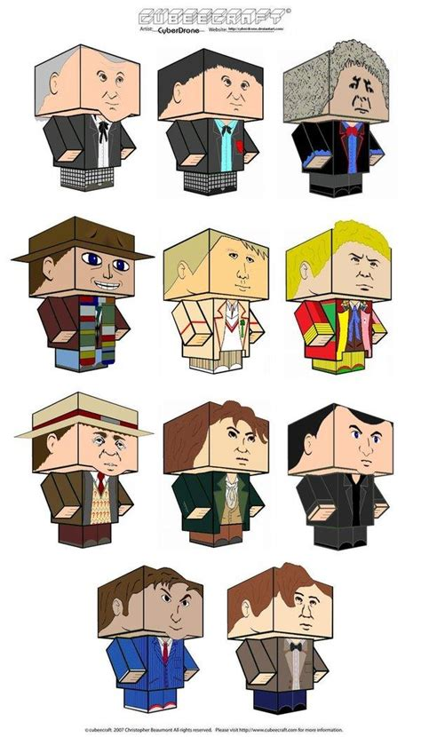 Dr Who Papercraft - cubeecraft on paper toys papercraft and
