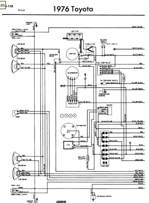 repair manuals toyota hilux 1976 wiring diagrams