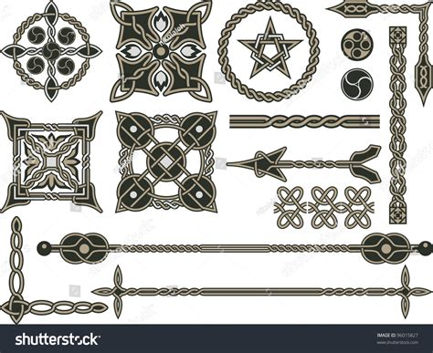 traditional design elements vector celtic traditional elements design vector stock vector