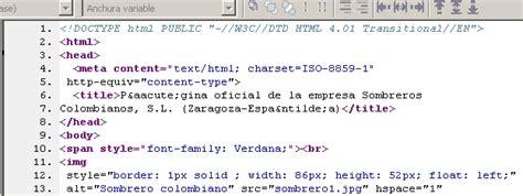 galeria imagenes html codigo elaborar una p 225 gina web corporativa
