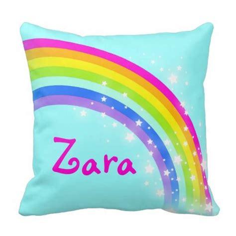 Zara Rainbow rainbow yellow name zara cushion pillow