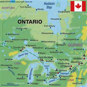 map of ontario canada map of ontario canada map in the atlas of the world