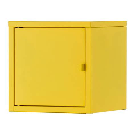 Yellow Metal Storage Cabinet Lixhult Cabinet Metal Yellow Ikea