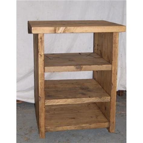 bedside table full open with two shelves fixed